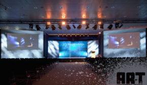 Impresión Digital en Textil como fondo de escenario